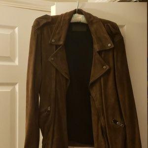 Men's all saints suede biker jacket size medium